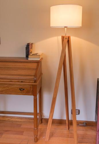 lampara de pie tripode madera nuevo diseño! modelo nurvi