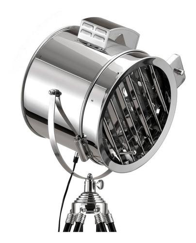 lampara de pie tripode naval persiana regulable apto led