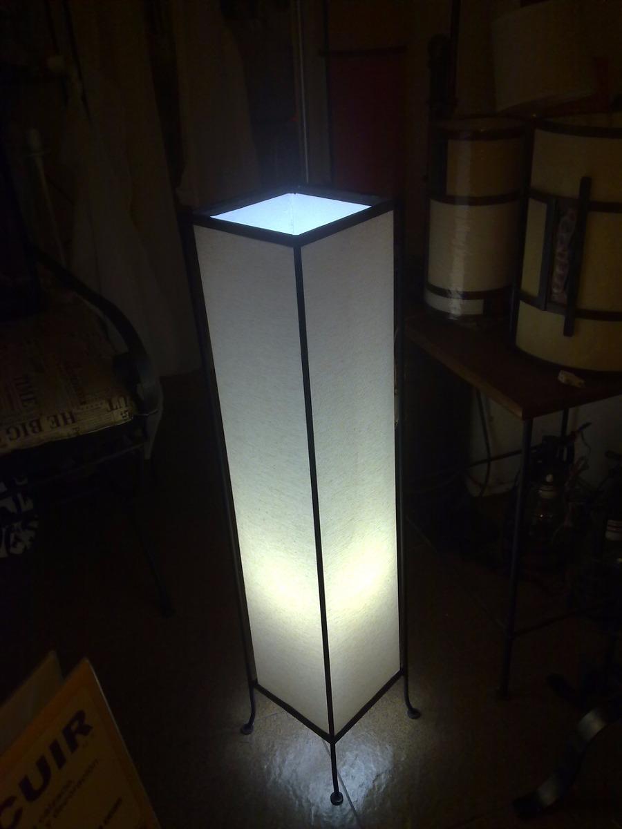 Lampara de pie1 luz hierro pantallas artesanales iluminacion en mercado libre - Pantallas de lamparas ...