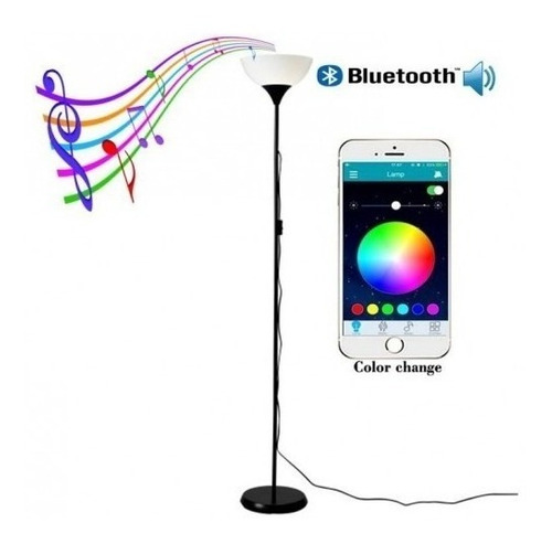 lámpara de piso bluetooth