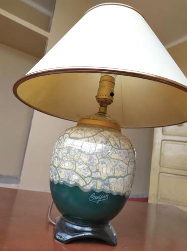 lámpara de porcelana pintada a mano