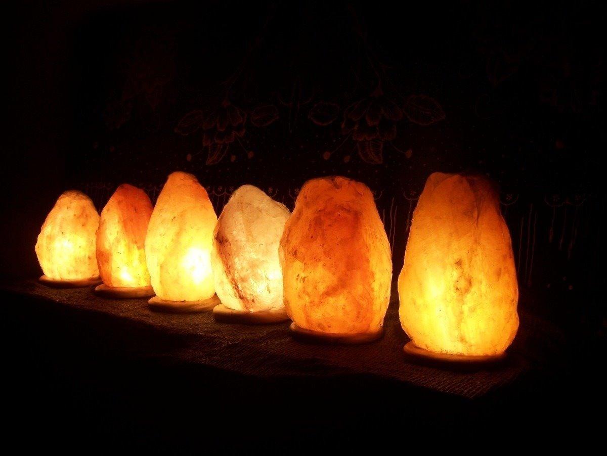 Lampara De Sal Luz Del Himalaya Nica Con Dimer Muebles Web  # Muebles Himalaya