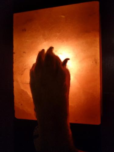 lámpara de sal para pies !! 4 kg !!! doble función !!