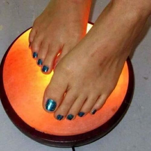lámpara de sal para pies !! 5 kg !!! doble función !!