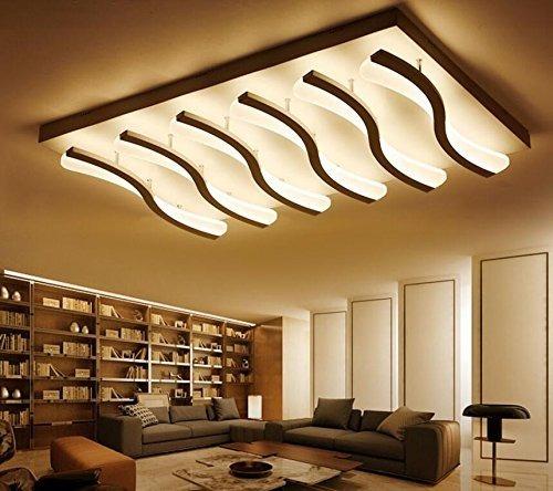L mpara de sala de estar rectangular simple moderna for Crear una sala de estar rectangular