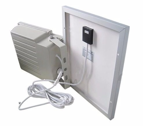 lámpara de seguridad solar 108 leds para exteriores y jardin