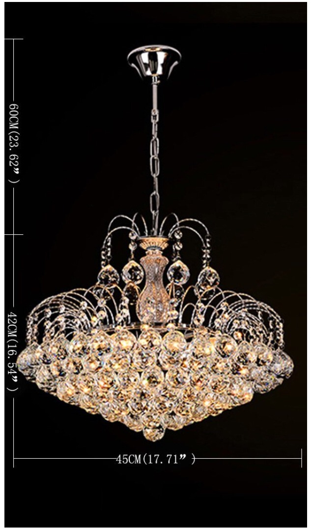 lámpara de techo candil de cristal cortado changm - $ 7,999.00 en