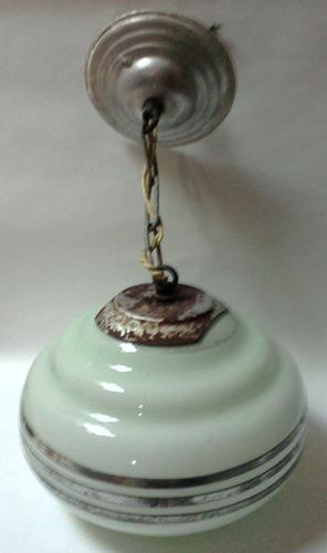 lámpara de techo colgante art deco vidrio blanco