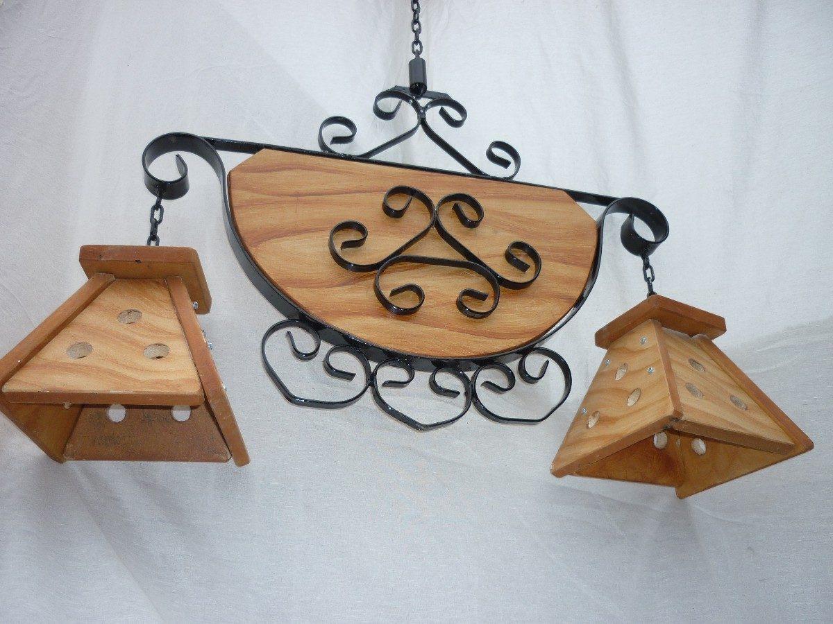Lamparas de madera colgantes pinocchio soporte de pared regulable en madera para lmparas - Lamparas colgantes de madera ...