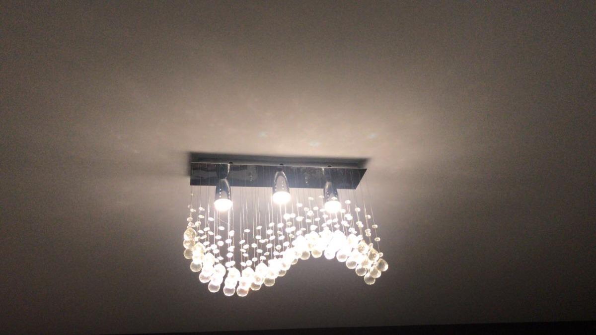 lámpara de techo cristal cortado - $ 3,500.00 en mercado libre