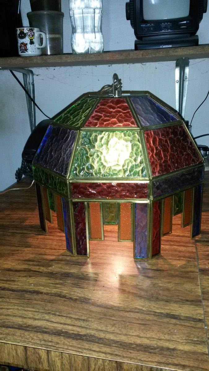 L mpara de techo cristal de colores bs en - Lamparas de cristal de colores ...