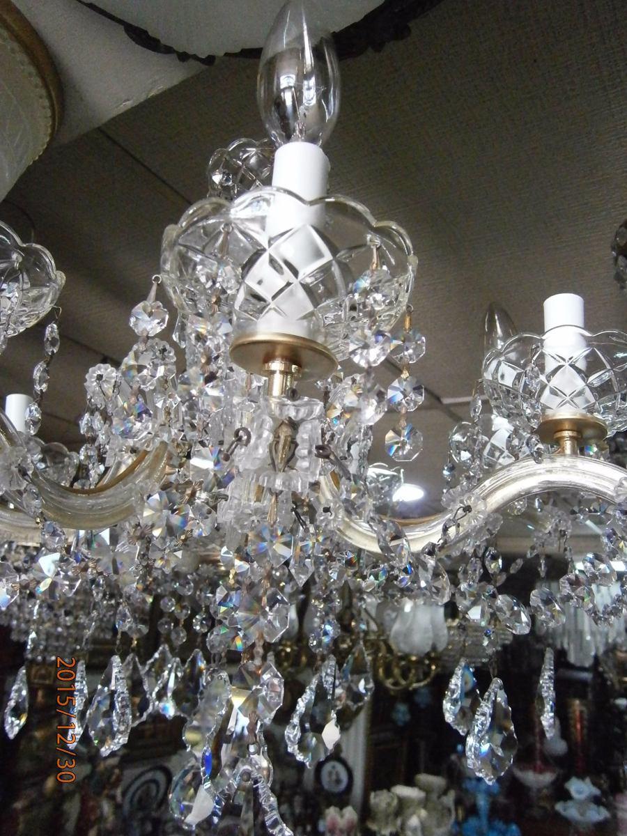 Lampara de techo cristal swarovski 8 luces - Lamparas de techo ...
