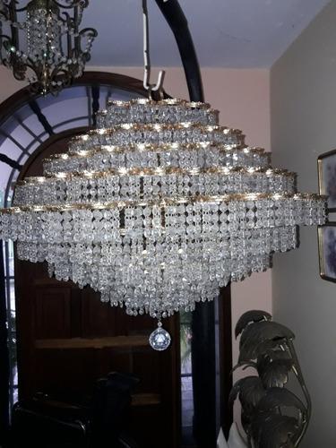 lampara de techo de cristales