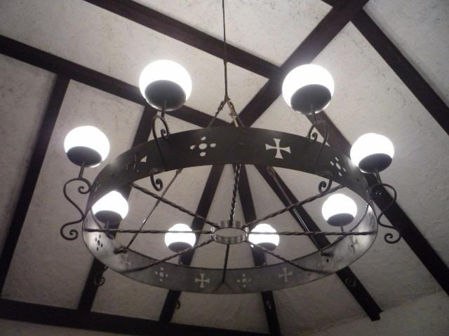 Lampara de techo hierro forjado sala comedor biblioteca - Lamparas techo comedor ...