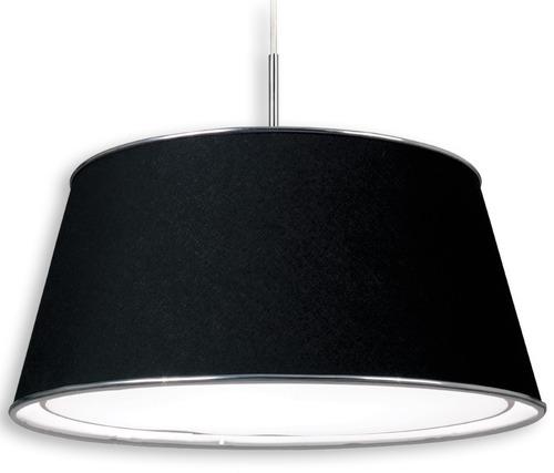 lampara de techo ldt/3 conico negro