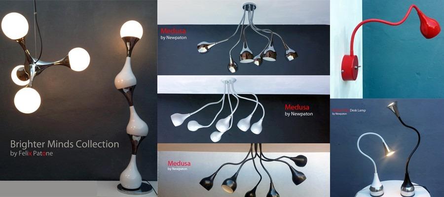Techo Lámpara Medusa NegroAraña Flexible Moderno De Diseño yOmwN8n0v