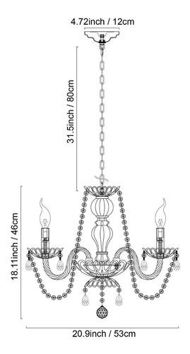 lampara de techo mini candelabro de cristal