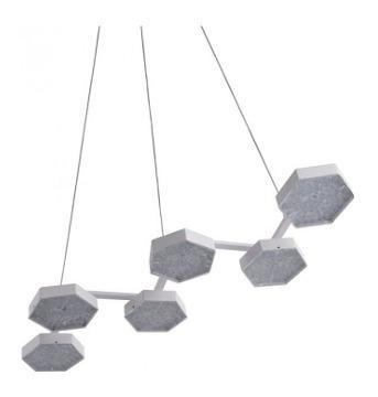 lampara de techo modelo dunk - blanco këssa muebles