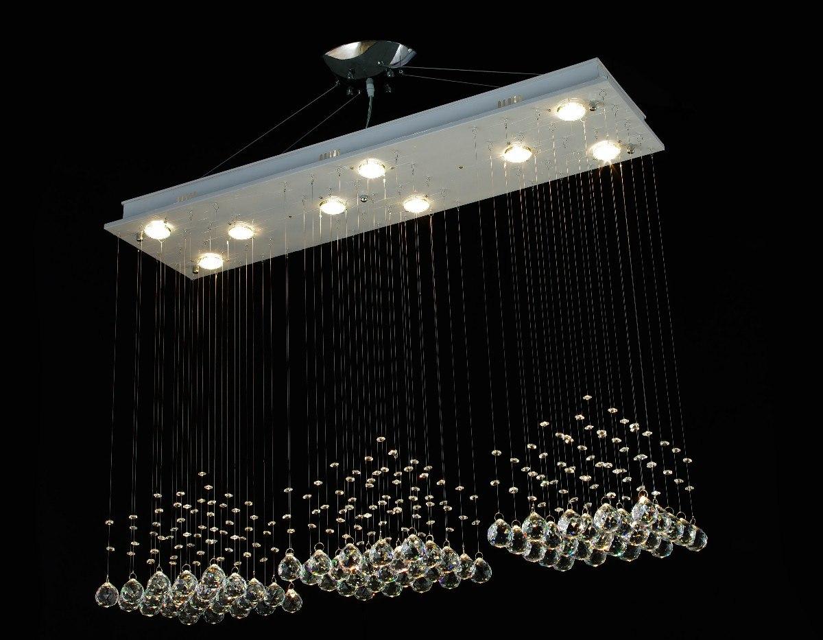 Lampara de techo moderna cristales importada 10 - Cristales para techos ...