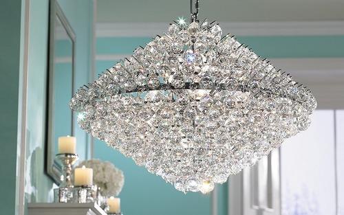 lampara de techo moderna esferas de cristal cms de ancho