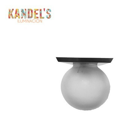 lampara de techo o pared acero inoxidable globo de vidrio