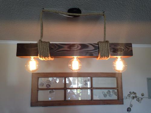 lámpara de techo - pino oregón vintage rústica