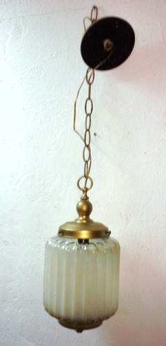 lámpara de techo vintage colgante vidrio blanco