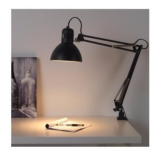 lampara de trabajo escritorio restirador ikea tertial negra