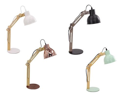 lámpara deco velador escritorio moderna nordica serena cobre
