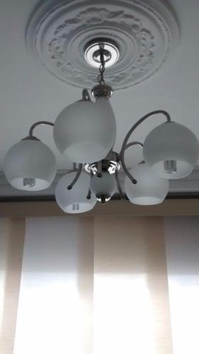 lámpara decorativa colgante 5 luces 60w e27