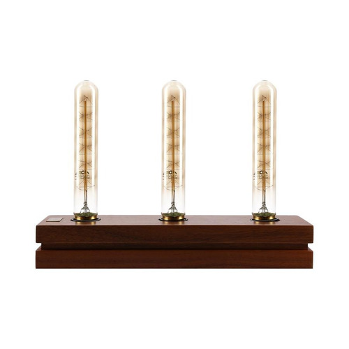 lámpara decorativa vintage de madera lampë - base trinity