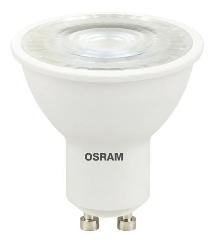 lampara dicro led x10 osram 6w 220v gu10 calida elect. ave.