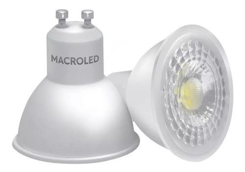lampara dicroica dicro led 7w gu10 220v neutra macroled x 10