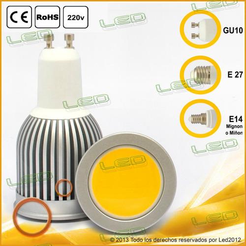 lámpara dicroica en cerámica e14 blanca  220 volt