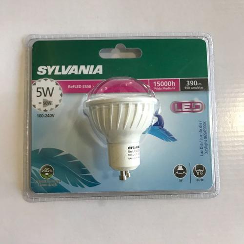 lampara dicroica led 5 w luz dia  220 v gu 10 sylvania