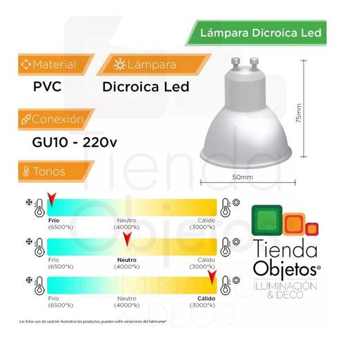 lampara dicroica led macroled 7w 38° gu10 220v