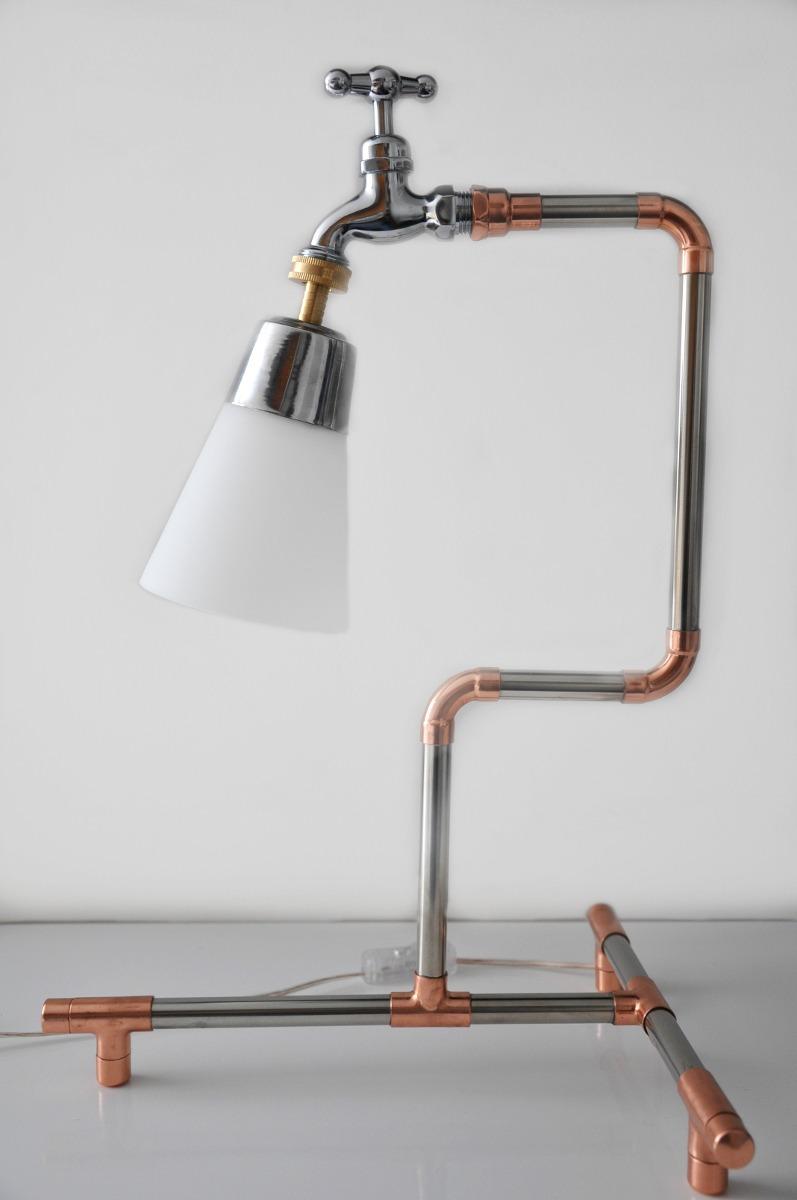 L mpara dise o moderno en acero inoxidable y cobre 232 for Articulos de decoracion de cobre