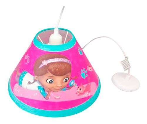 lámpara doctora juguetes colgante cuarto niña cónica