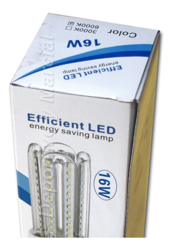 lampara efficient led 16w = 130 watts tubos ecologica cuotas
