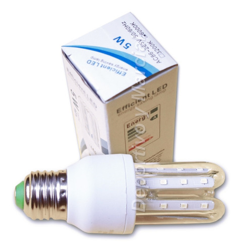 lampara efficient led 5w = 40 watts tubos ecologica cuotas