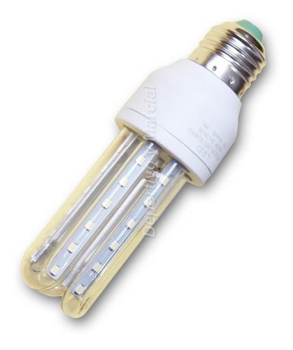 lampara efficient led 7w = 60 watts tubos luz fria ecologica