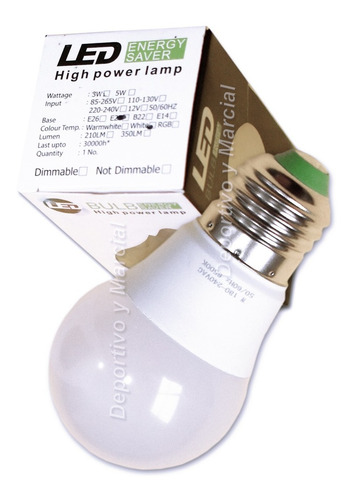 lampara efficient led 9w = 70 watts bulbo ecologica cuotas