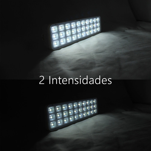 lampara emergencia recargable 72 led 3.5w luz blanca c/envio