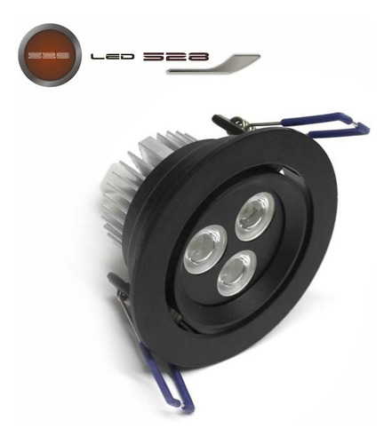 lampara empotrable led 3w