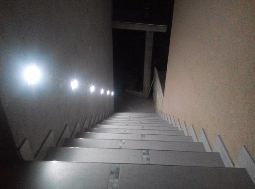 Lampara empotrable para escalera luminaria acento led foco en mercado libre - Escaleras con led ...