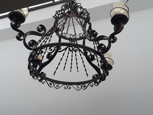 lampara en hierro forjado