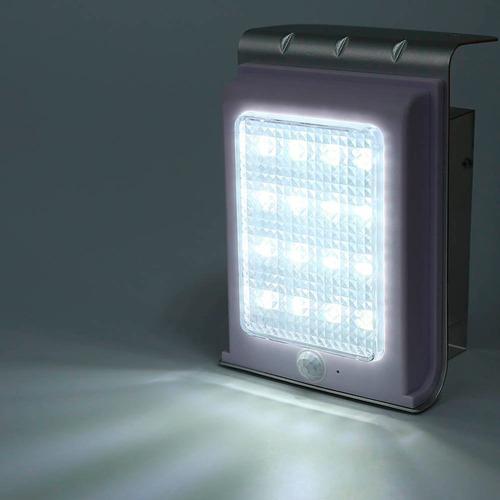 lampara energia solar 16 led exteriores sensor movimiento