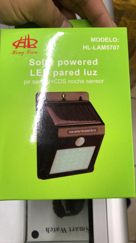 lampara energía solar 20 leds sensor interior exterior