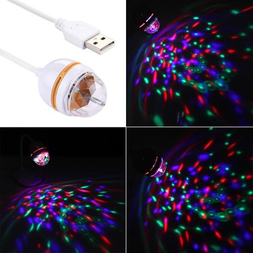 lampara escritorio 3w usb luz rgb giratoria bola blanco