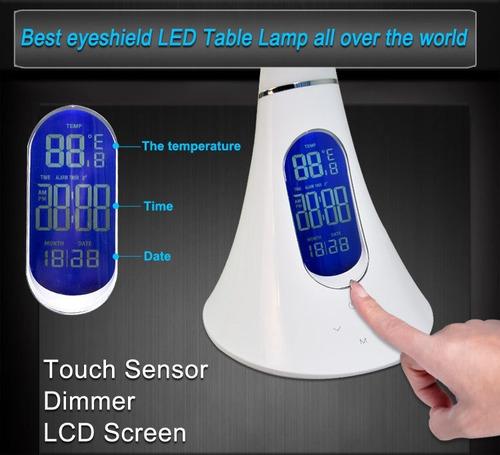 lampara escritorio grado brillo regulador tactil blanco